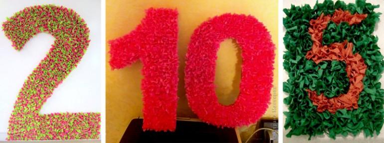Объемные цифры на день рождения ребенка 24