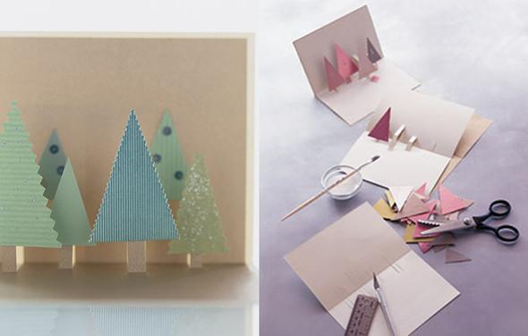 Легкая открытка своими руками на новый год