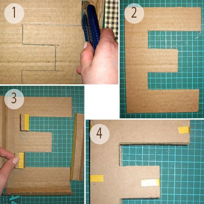 Как сделать объемные буквы своими руками фото