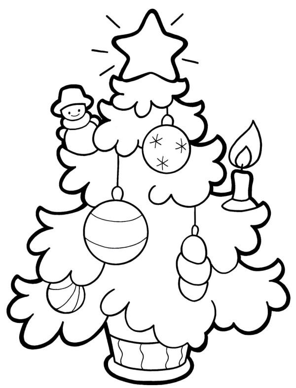 Раскраска елка - 9