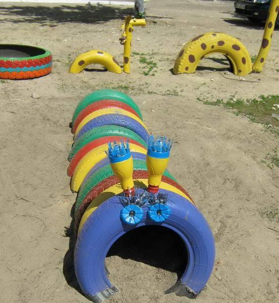 Поделки для детского участка в детском саду своими руками летом фото